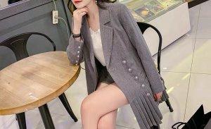Robe manteau gris clair-gris