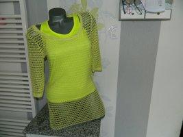 Camisa de malla amarillo-amarillo neón