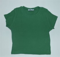 FB Sister Ribbed Shirt forest green cotton