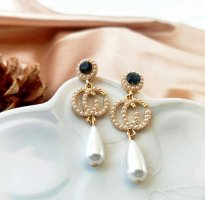 &jacket Pendientes de perlas blanco-color oro