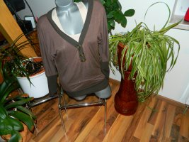 Damen Oversize Shirt in Doppeloptik Größe L made in Italy (P20)