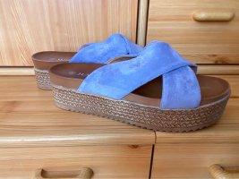 Platform Sandals cornflower blue