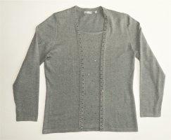 Damen Pulli von RABE Gr. 38 / M Pullover Strickpulli Feinstrickpullover TOP Zustand grau Strass