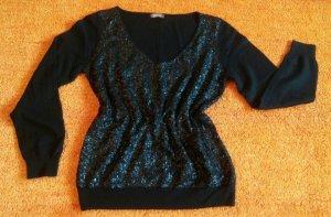Damen Pullover Angora strick Pailletten Gr.M in Schwarz von GDM NW