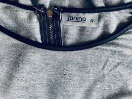Janina Maglia scollo a barca nero-grigio