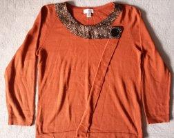 Laura Kent Maglione girocollo arancione