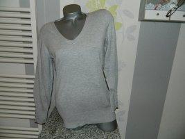 C&A Yessica Sweter z dekoltem w kształcie litery V jasnoszary Wiskoza