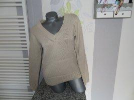 Lefties V-Neck Sweater oatmeal polyacrylic