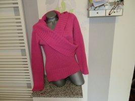 Kenvelo Maglione lavorato a maglia rosa Acrilico