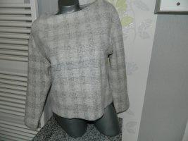 H&M Pull polaire blanc-gris clair coton