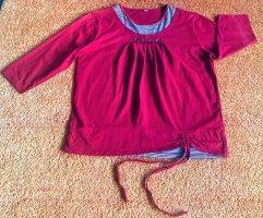 Damen Pullover Shirt Lagenlook Gr.M in Rot gestreift NW