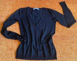 Damen Pullover strick fein Stretch Gr.S in Schwarz von Zara NW