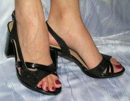 Damen Pumps Riemchen High Heels Absatzschuhe Blockabsatz Sommer Sandalen