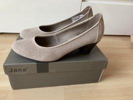 Damen Pumps Taupe Gr 40 6,5 Jana Comfort Schuhe Leder Neu mit Etikett 49,95€