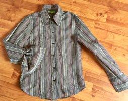 Damen Retro Bluse von Bamboo, gestreift, Größe 38, neu, langarm