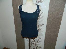 Damen Ripp Top mit Spitze Größe S von H&M (951)