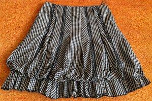 Lisa Campione Ballonrok zwart-wit Polyester