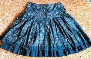 Esprit Spódnica midi ciemnobrązowy-brązowy Bawełna
