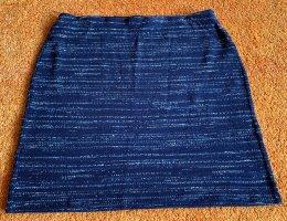 Promod Knitted Skirt dark blue-blue