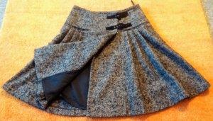 Damen Rock Woll Boucle´ Winter Gr.40 in Schwarz/Grau von Passport