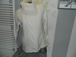 Donna Lane Knitted Sweater natural white-cream angora wool