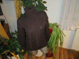 Damen Rollkragen Pullover Zopfmuster Größe S/M von Blanco Tricot (Nr497)
