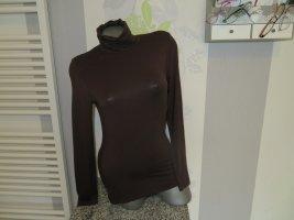 Cheer Turtleneck Shirt brown viscose