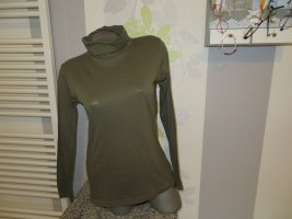 Blue Motion Camisa de cuello de tortuga verde oliva Algodón