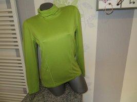 Bonita Camisa de cuello de tortuga verde Viscosa