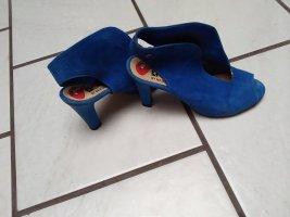 Sandały japonki niebieski Skóra