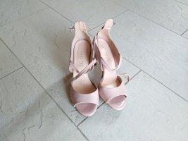 Sandalias de tiras rosa claro Cuero