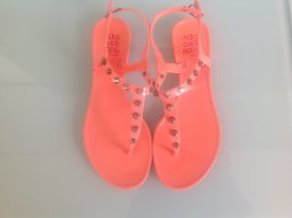 High-Heeled Toe-Post Sandals orange