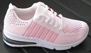 100% Fashion Sneakers met veters wit-zwart