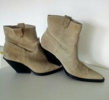 Zara Krótkie buty beżowy