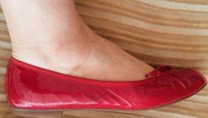 Damen Schuhe Ballerina Gr.39 in Rot von Evergreens