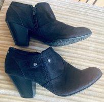 Damen Schuhe Knöchel Blockabsatz Gr.38 in Schwarz von Yessica