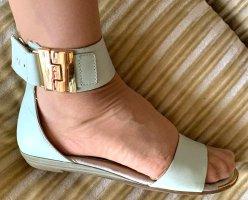 Damen Schuhe Knöchel Sommer Sandalen Gr.38 in Grün von Tamaris P.59,95€