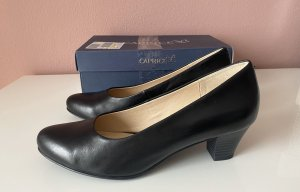 Damen Schuhe Pumps Caprice schwarz Gr 40 Leder Neu mit Karton NP€49,95