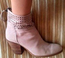 Damen Schuhe Stiefeletten Netz Ansatz Gr.39,5 in Rose´ von Nine West