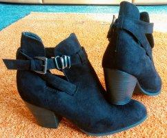 Damen Schuhe Stiefeletten Wild Leder Gr.41 in Schwarz von Atmosphere
