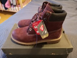 Timberland Booties bordeaux leather