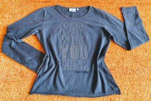 Damen Shirt Glitzer Verzehr Gr.S in Grau von Tom Tailor
