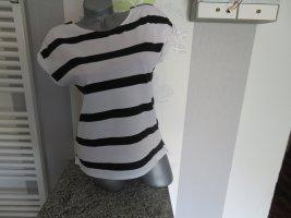Esprit T-shirt biały-czarny Bawełna