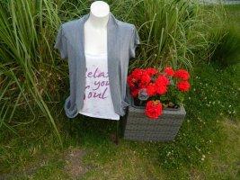 Bon Prix T-shirt wit-grijs Polyester