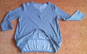 awg Boatneck Shirt black-cream cotton