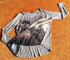 Damen Shirt Print Jersey Pullover Gr.L in Khaki von GDM