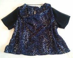 Monki Top col bénitier noir-bleu foncé polyester