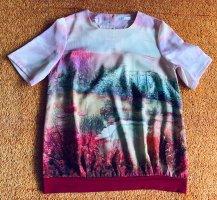 Damen Shirt Sommer Print Bluse Gr.38 Rosa/Bunt von Modee NW