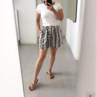 Tamaris High waist short wolwit-zwart