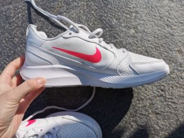 Damen Sneaker Sportschuhe flache Schuhe Nike Todos weiß pink